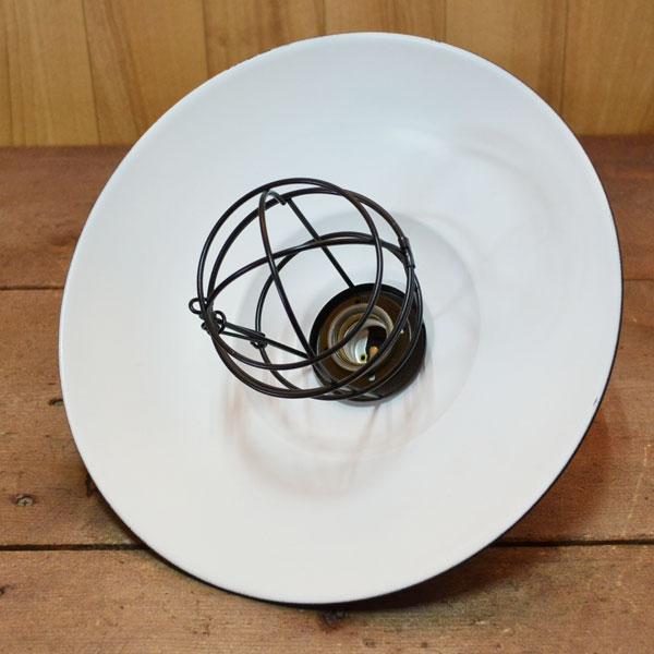 アイアンペンダントライト 黒 12インチ ガード アルミ製古仕上げ灯具付き ブラック アンティーク風 北欧 カントリー調 照明器具 シェード インテリア アイアンランプ レトロ led