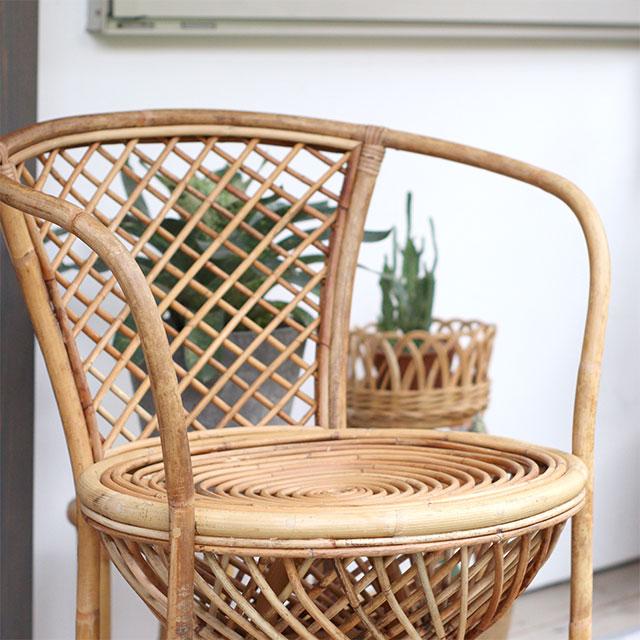 ユグラ ボヘミアンチェア ラタン 籐椅子 丸 家具 おしゃれ