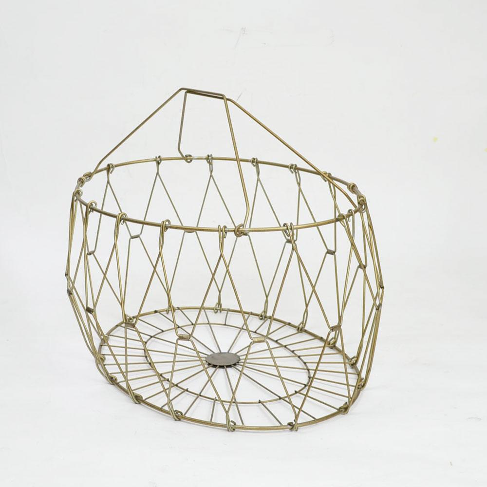 折りたたみ式 ワイヤーバスケット オーバル かご オシャレ