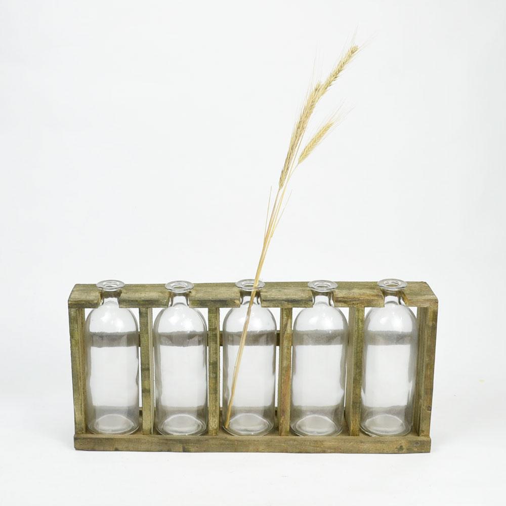 ガラスベース 5P フラワーベース 花瓶 ガラス製品