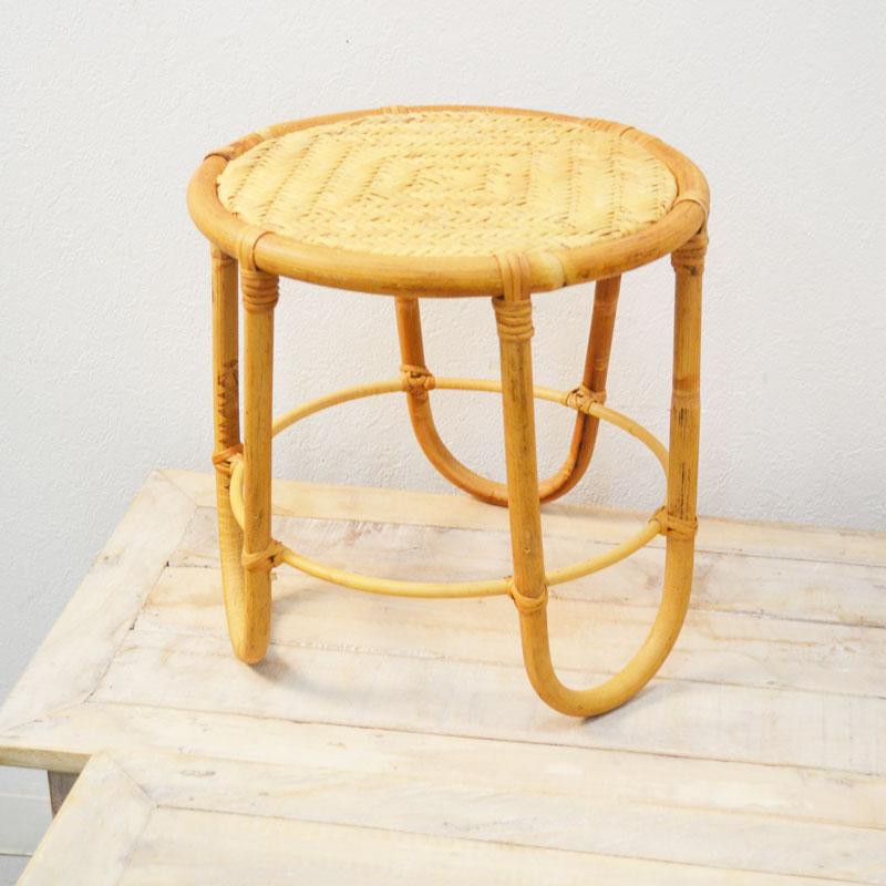 ユグラ 花台 プランタースタンド フラワースタンド 籐 鉢台