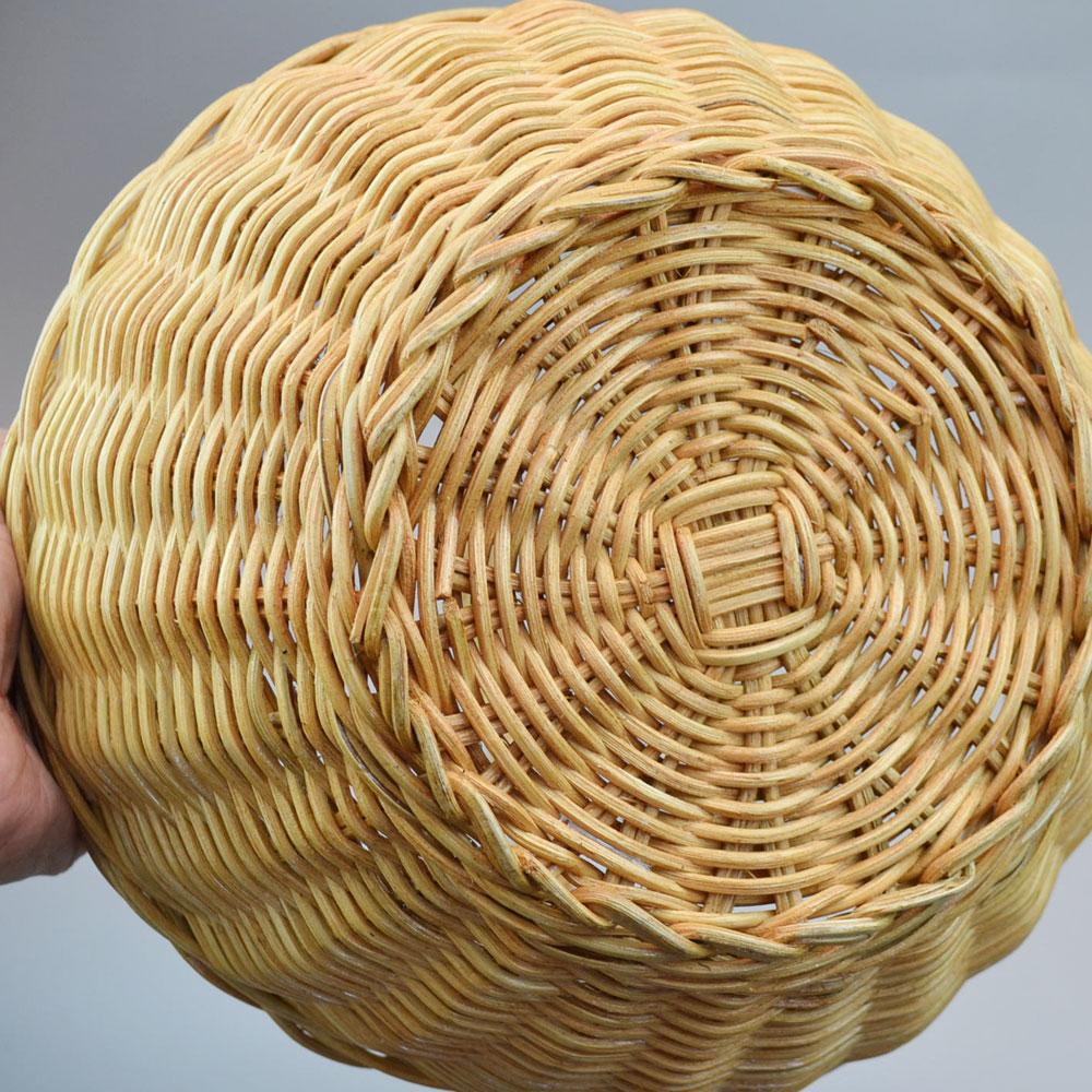 ラタン サークル 1本手 バスケット かご 便利なかご ナチュラルバスケット 収納 リビング収納 収納バスケット ラタン バスケット かご インテリア 可愛い収納 ディスプレイ キッチン 小物収納 シンプル 素朴
