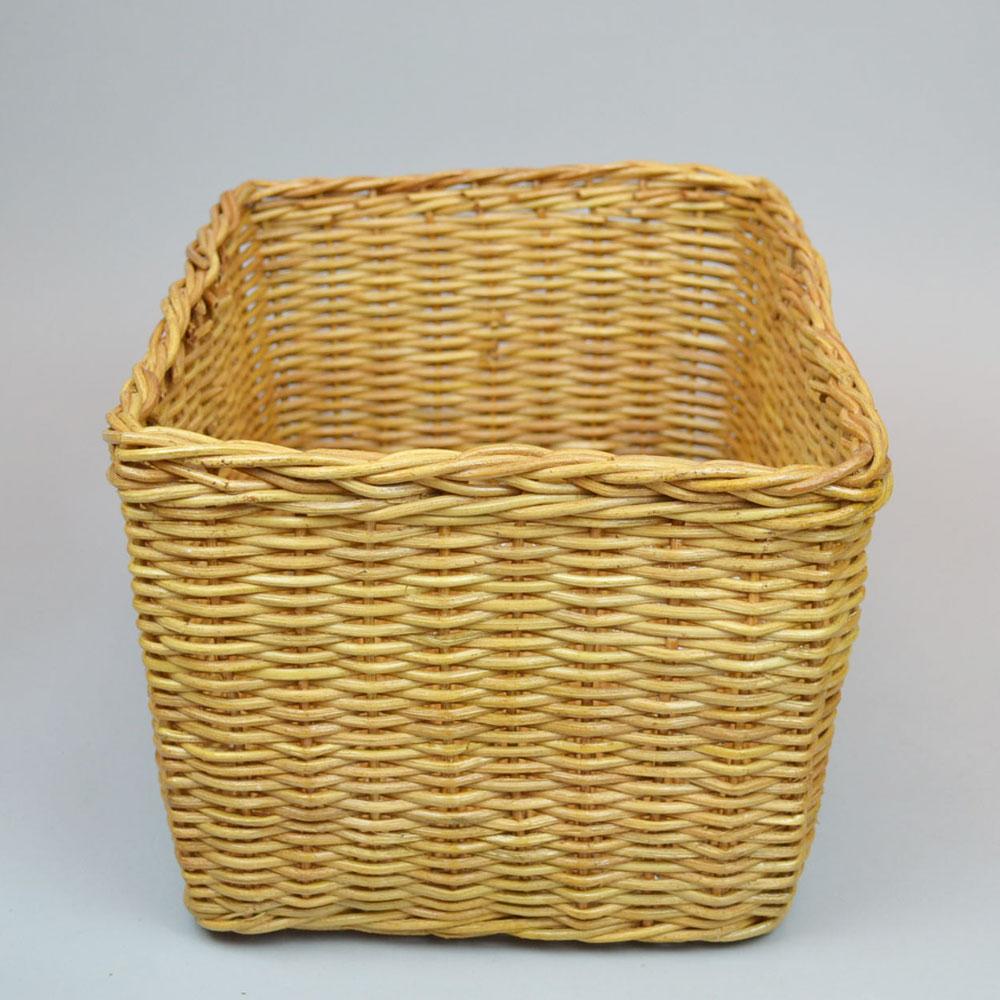 ラタン角型 バスケット    かご 便利なかご ナチュラルバスケット 収納 リビング収納 収納バスケット ラタン バスケット かご インテリア 可愛い収納 ディスプレイ キッチン おもちゃ箱