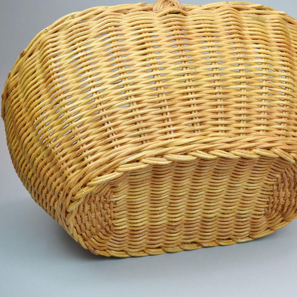 ラタン オーバル1本手 ピクニックバスケット かご 便利なかご ナチュラルバスケット 収納