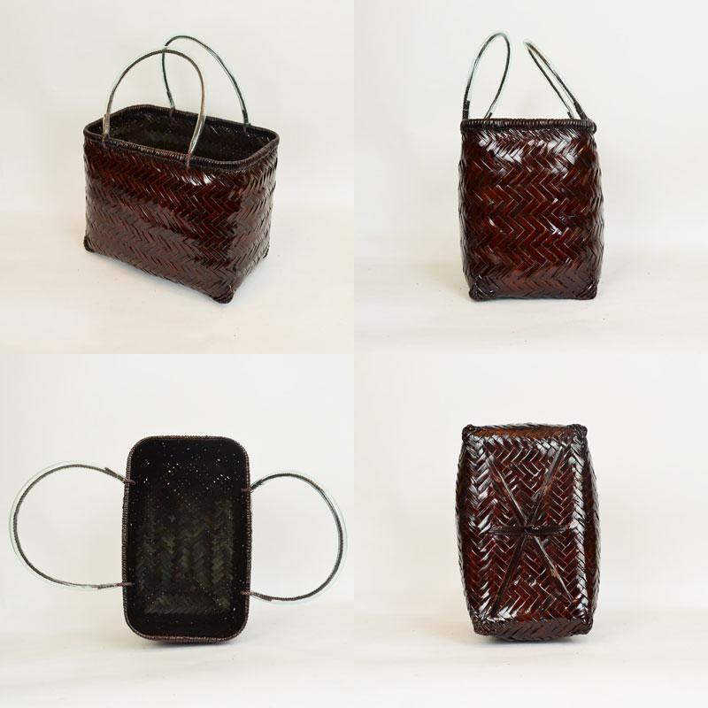 竹がごバッグ 買い物かご たて型L 竹 かごバッグ エコ