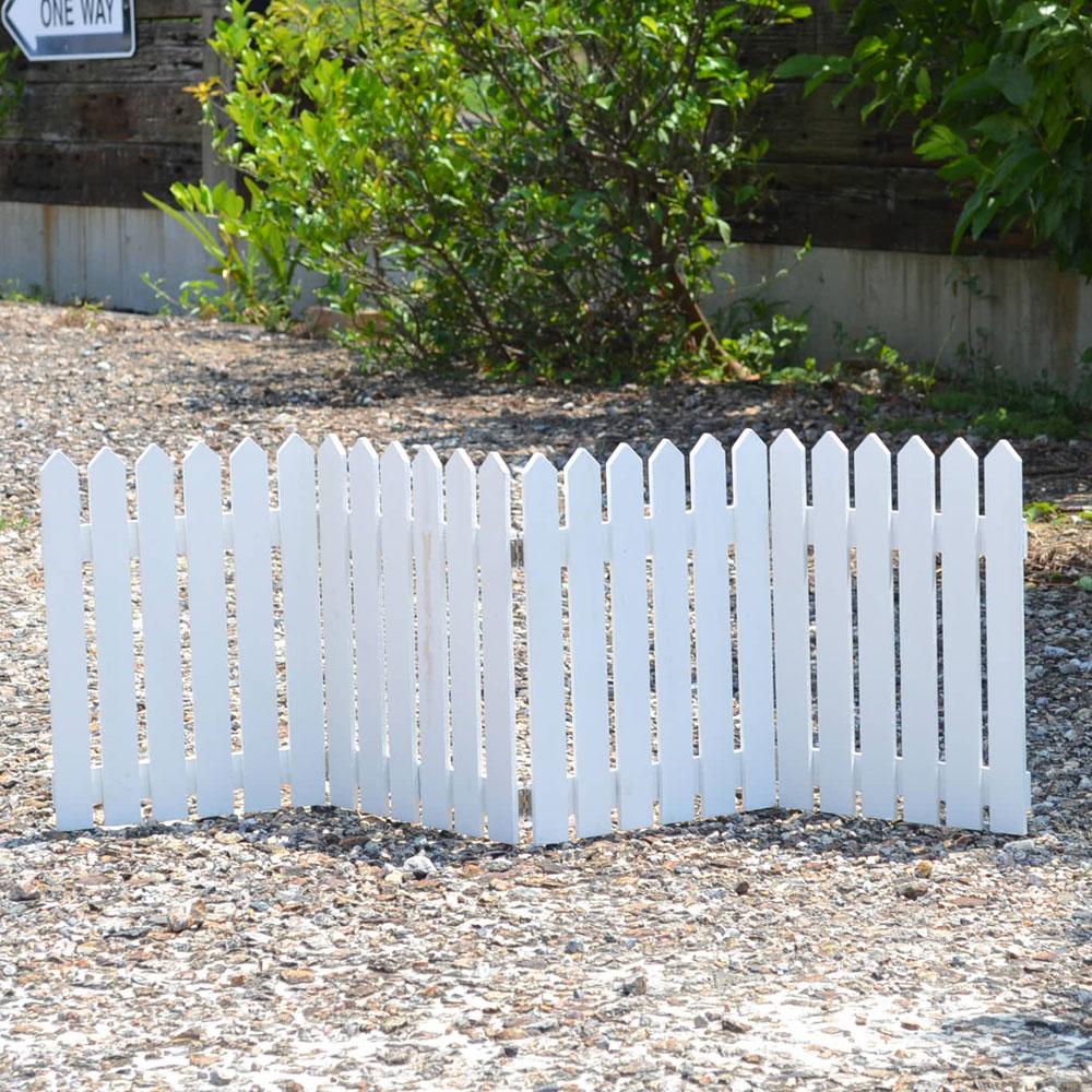 アンティーク風 木製 ガーデンフェンス 塗装有 折りたたみ式