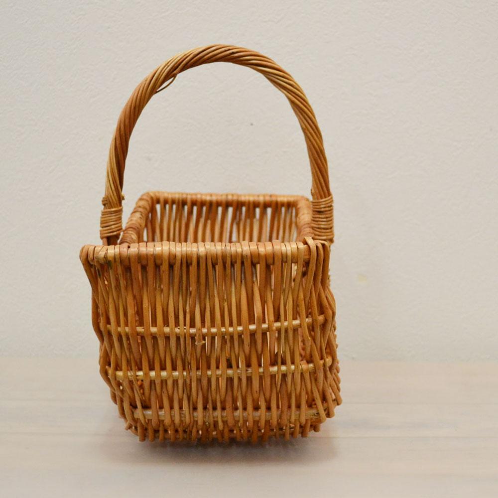 柳かご 可愛いバルーンバスケット 1本手 持ち手付きのかわいいウィローバスケット ギフト ディスプレイ カゴ 籠 バスケット 収納