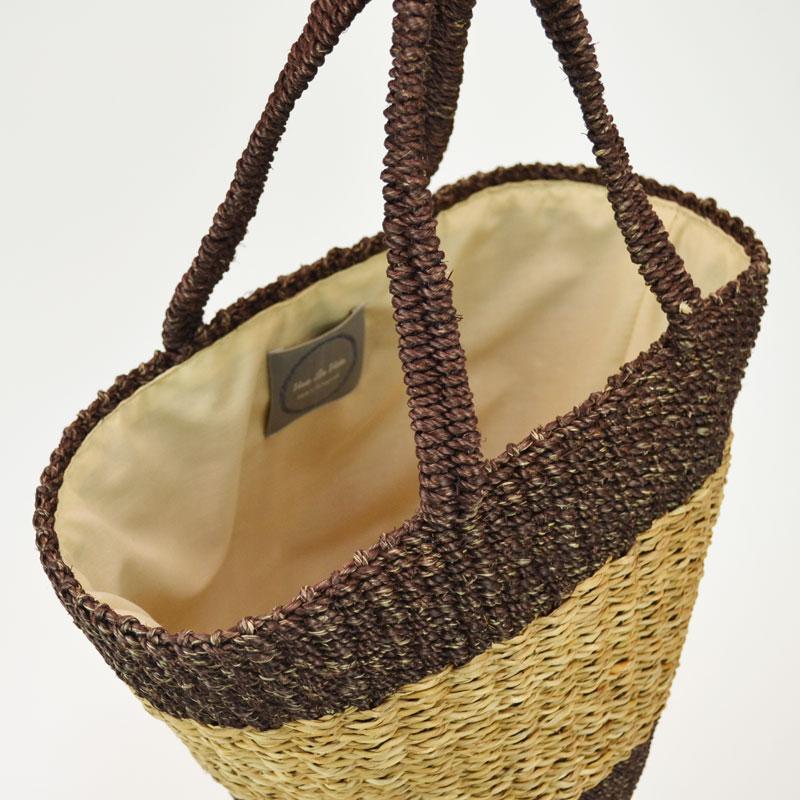 アバカ バンクアン 天然素材 かごバッグ バルミー カラード