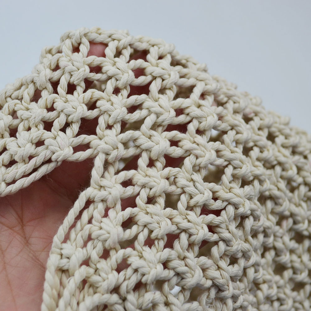 マクラメハンドバッグ かごバッグ コトンロープ マクラメ編み