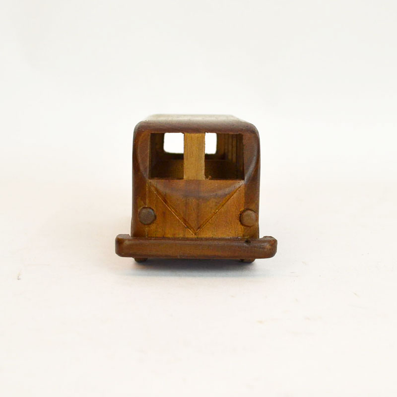 ウッドビークル バス 木製 乗り物 車 おもちゃ チーク