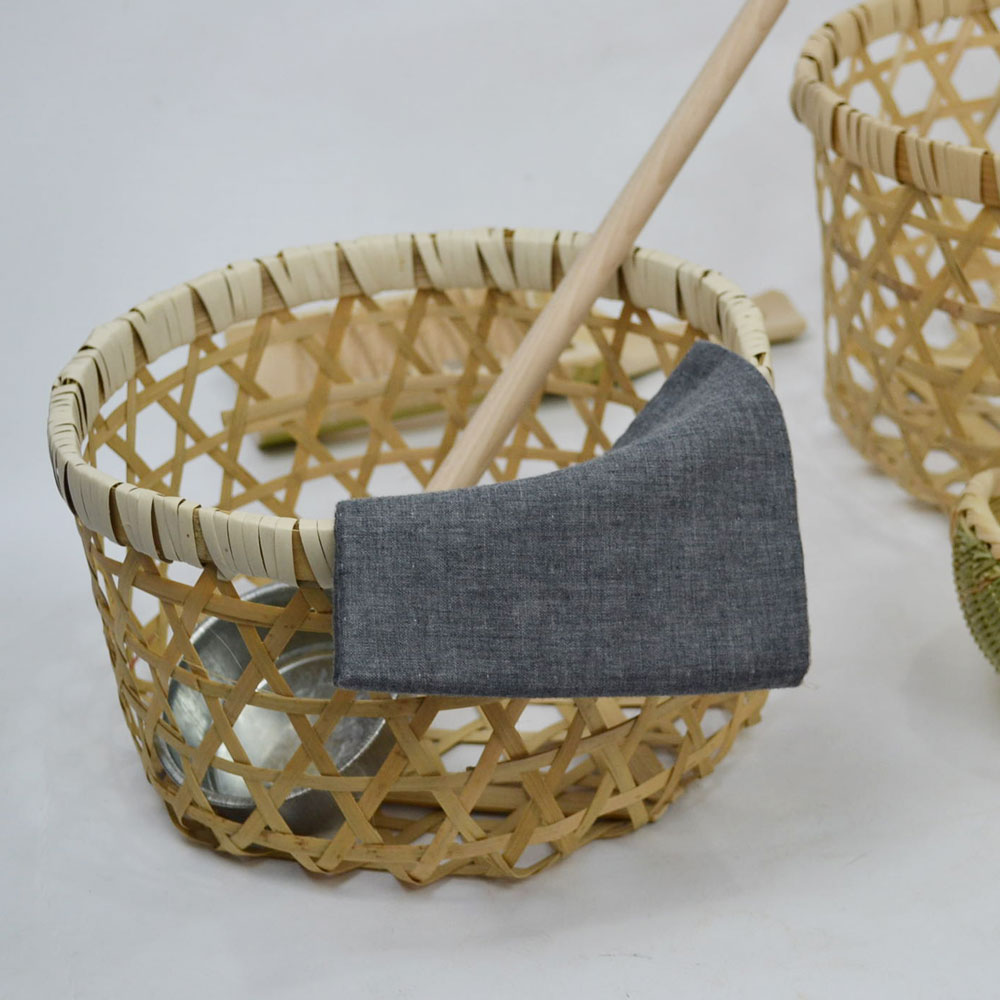 竹 かご Sサイズ バンブー ナチュラル 軽い 丈夫 昔ながら 生活用品 キッチン 野菜収納 小物収納 インテリア ディスプレイ エコ素材 編み模様 透かし 実用性 おしゃれ 見せる収納 機能的 2サイズ ベトナム製 シンプル