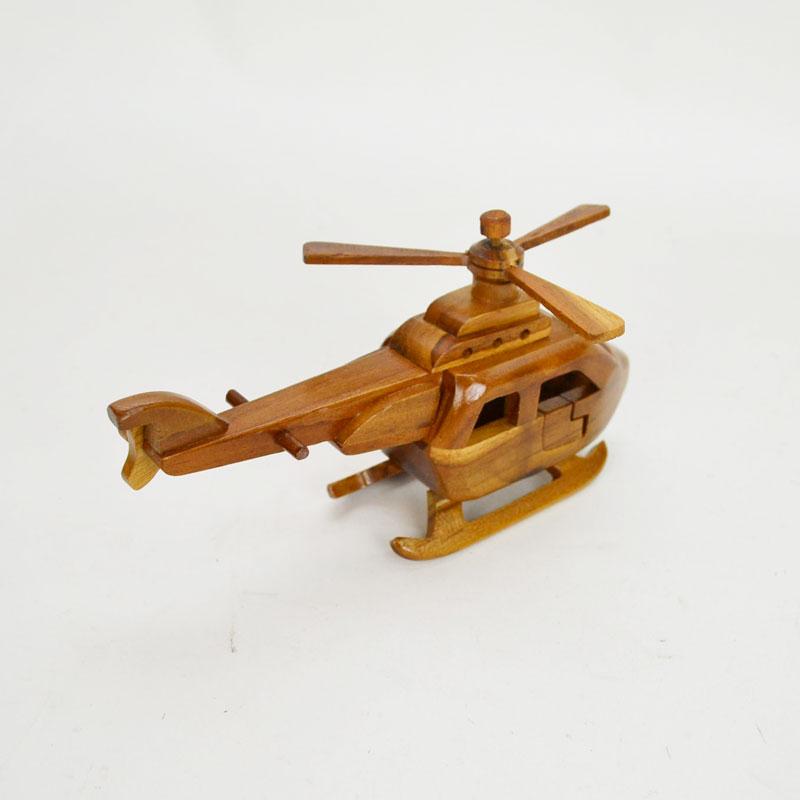 ウッドビークル ヘリコプター 木製 乗り物 おもちゃ 木の車