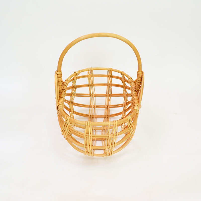 ピクニック ウィッカーバスケット 透かし 柳 みかんかご