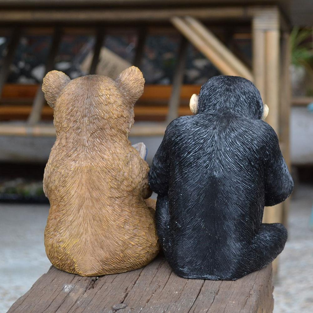 チアフルフレンズ クマのハーマン チンパンジーのアーネスト