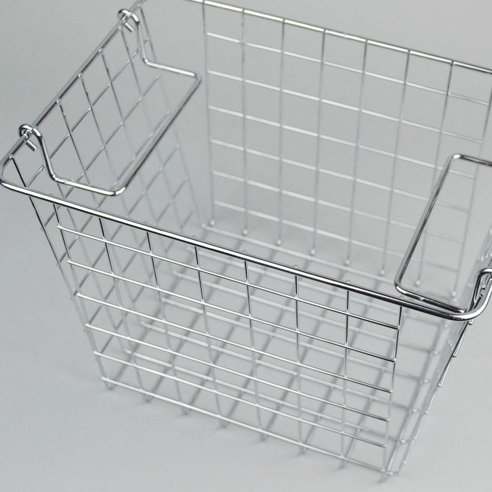 スチール スタッキング バスケット  A   見せる収納 キッチン収納 かご シンプル かっこいい 清潔感  リビング 収納 整理整頓 デザイン おしゃれ スペース 日常生活 便利 機能的 ストック お店 POS