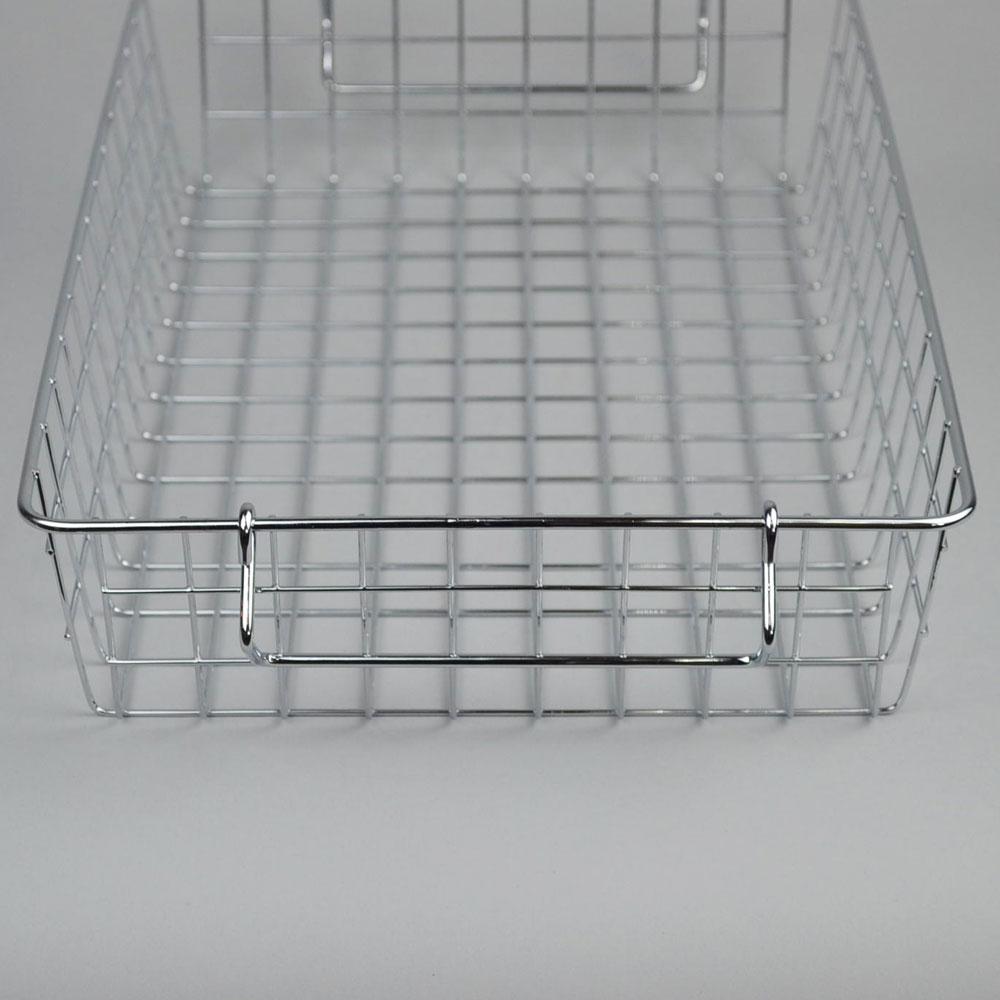 スチール スタッキング バスケット  B   見せる収納 キッチン収納 かご シンプル かっこいい 清潔感  リビング 収納 整理整頓 デザイン おしゃれ スペース 日常生活 便利 機能的 ストック お店 POS