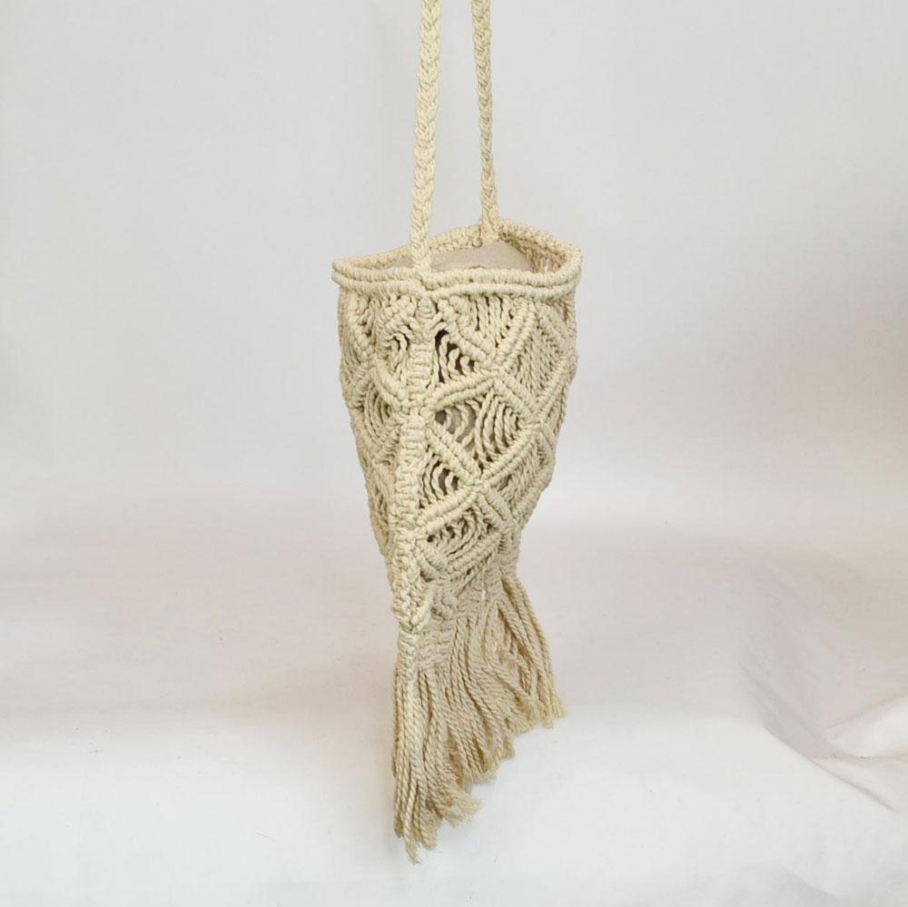 マクラメ編み メッシュ ショルダーバッグ B ロープバッグ