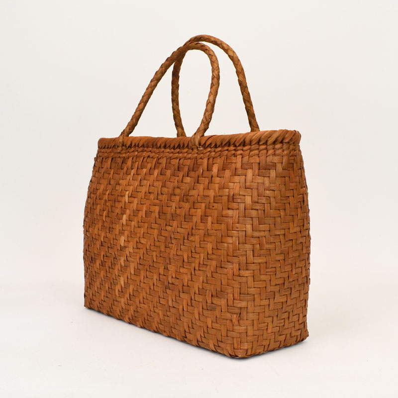 高級素材 山葡萄バッグ 梧 鞄 かごバッグ