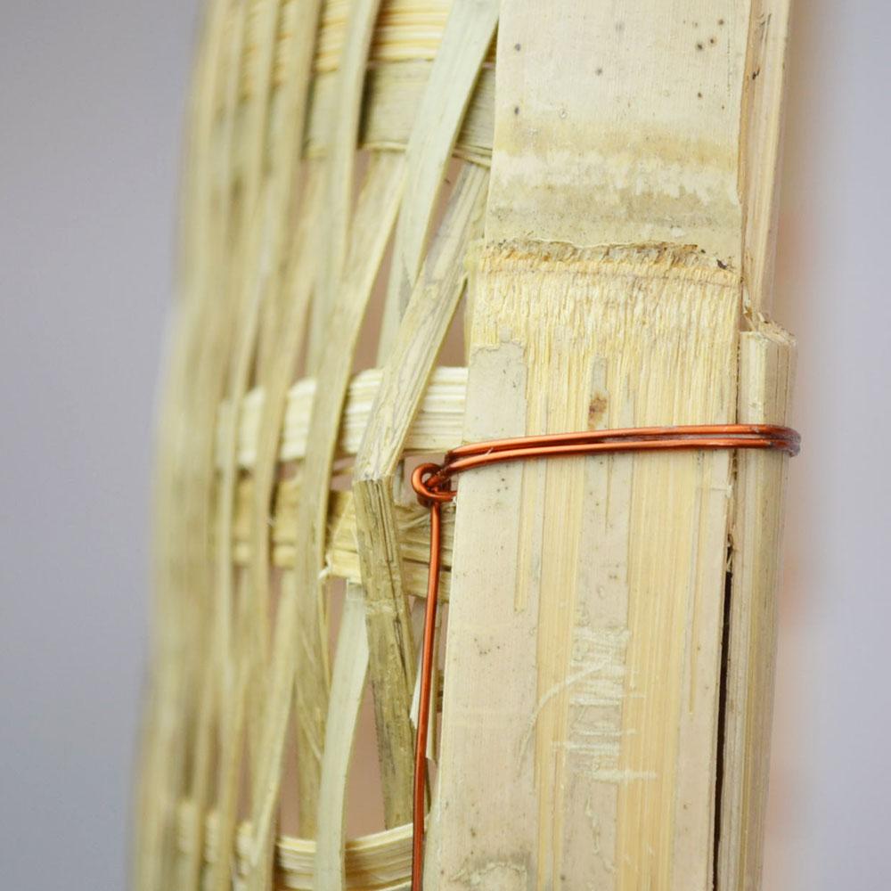 竹 干しざる  2セット   皮竹材料 ござ目 竹製 自家製なら安心 手作り 梅干し 野菜 海産物 天日干し ザル 直径55cm 干物づくり 虫よけ 梅仕事に 魚の干物 通気性 丈夫 エコ 自然素材 ナチュラル 清潔 おやつ ベトナム製
