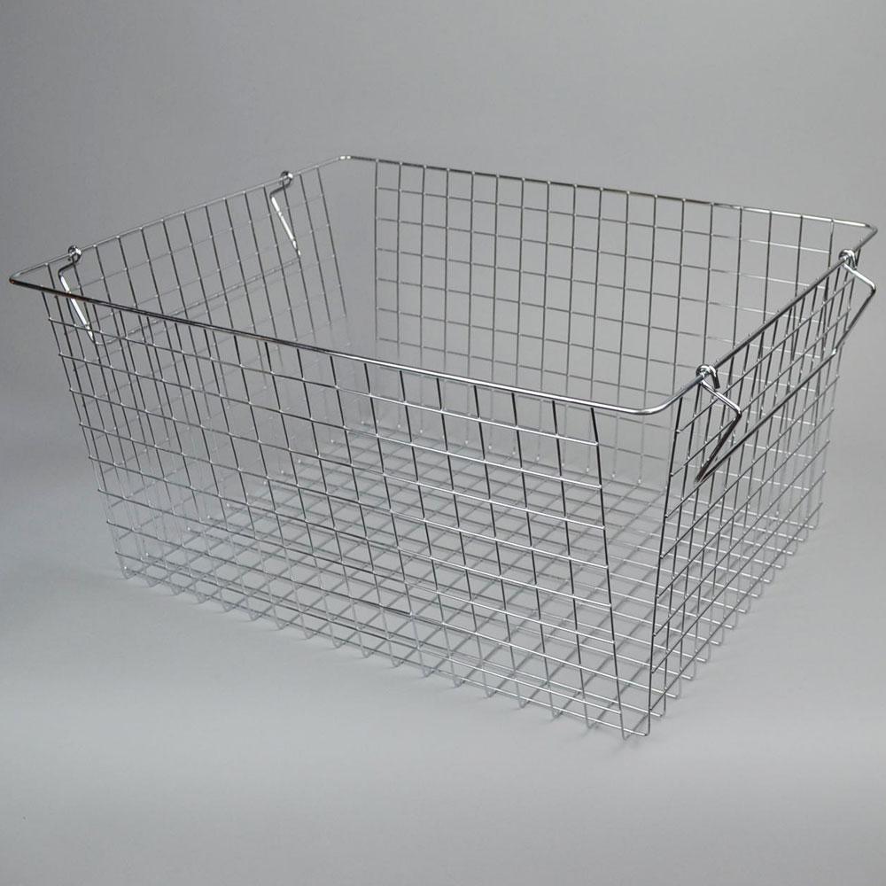 スチール スタッキング バスケット  G   見せる収納 キッチン収納 かご シンプル かっこいい 清潔感  リビング 収納 整理整頓 デザイン おしゃれ スペース 日常生活 便利 機能的 ストック お店 POS