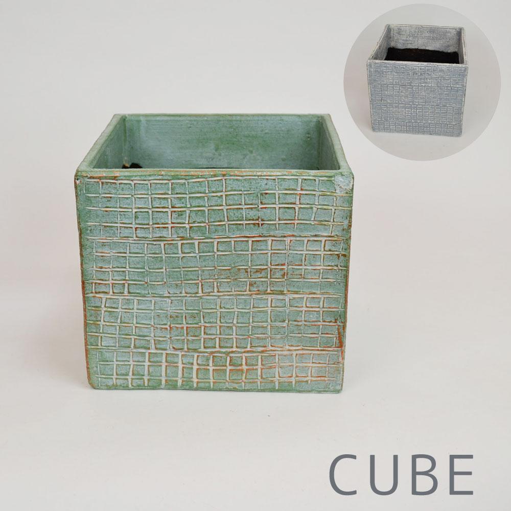 カラー テラコッタ鉢 CUBE おしゃれ 7号用 鉢カバー