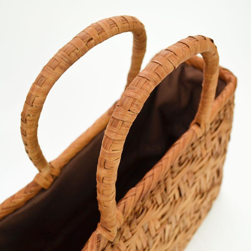 高級素材 山葡萄バッグ 漆 かごバッグ