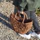 高級素材 山葡萄バッグ 捌 鞄 かごバッグ