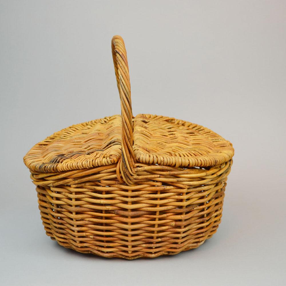 アラログ ピクニックバスケット ランチバッグ カゴバッグ ふた付き 左右両開き アンティーク風 お弁当を入れてお出かけ ピクニック 持ち手付き かご カゴ 籠 インテリア ディスプレイ 定番 ギフト プレゼント ナチュラル デザイン