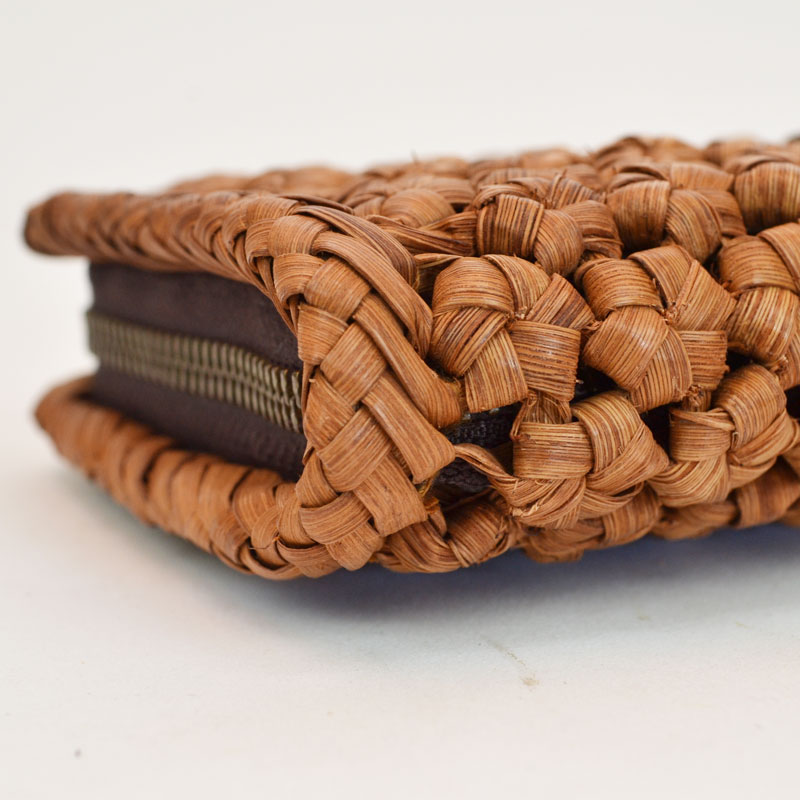 高級素材 山葡萄 拾 長財布 花編み