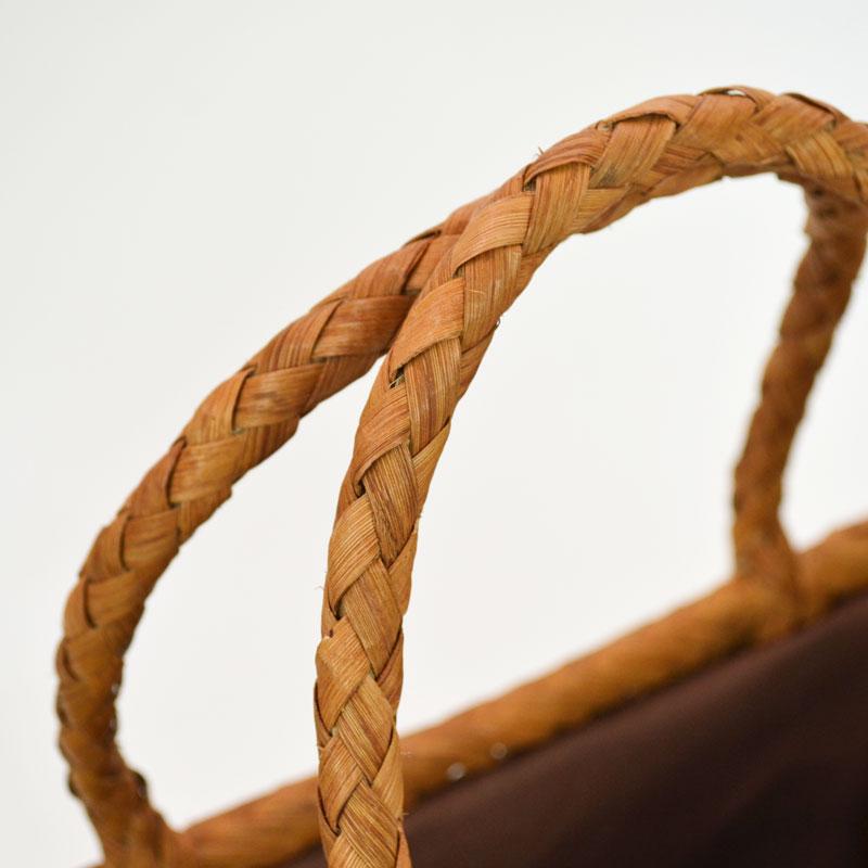 高級素材 山葡萄バッグ 辰 かごバッグ