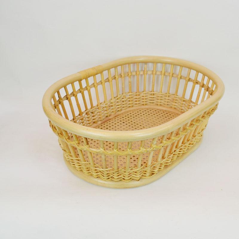 ランドリーバスケット ラタン 籐かご 脱衣かご 風呂 スリム