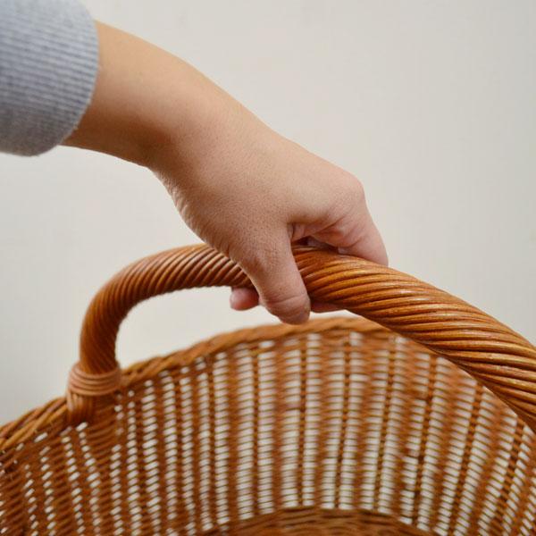 大きなピクニックバスケット  ラタン 籐 インドネシア産 丈夫なバスケット ナチュラル 大容量のかご 収納バスケット 店舗 ディスプレイ パーティー用バスケット 高品質 脱衣かご おしゃれな 可愛い