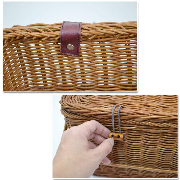 四角いピクニックバスケット ふた付き  ラタン 籐かご インドネシア産 丈夫 バスケット ナチュラル ソーイングボックス 収納バスケット 店舗のディスプレイ 高品質 おしゃれな 蓋あり