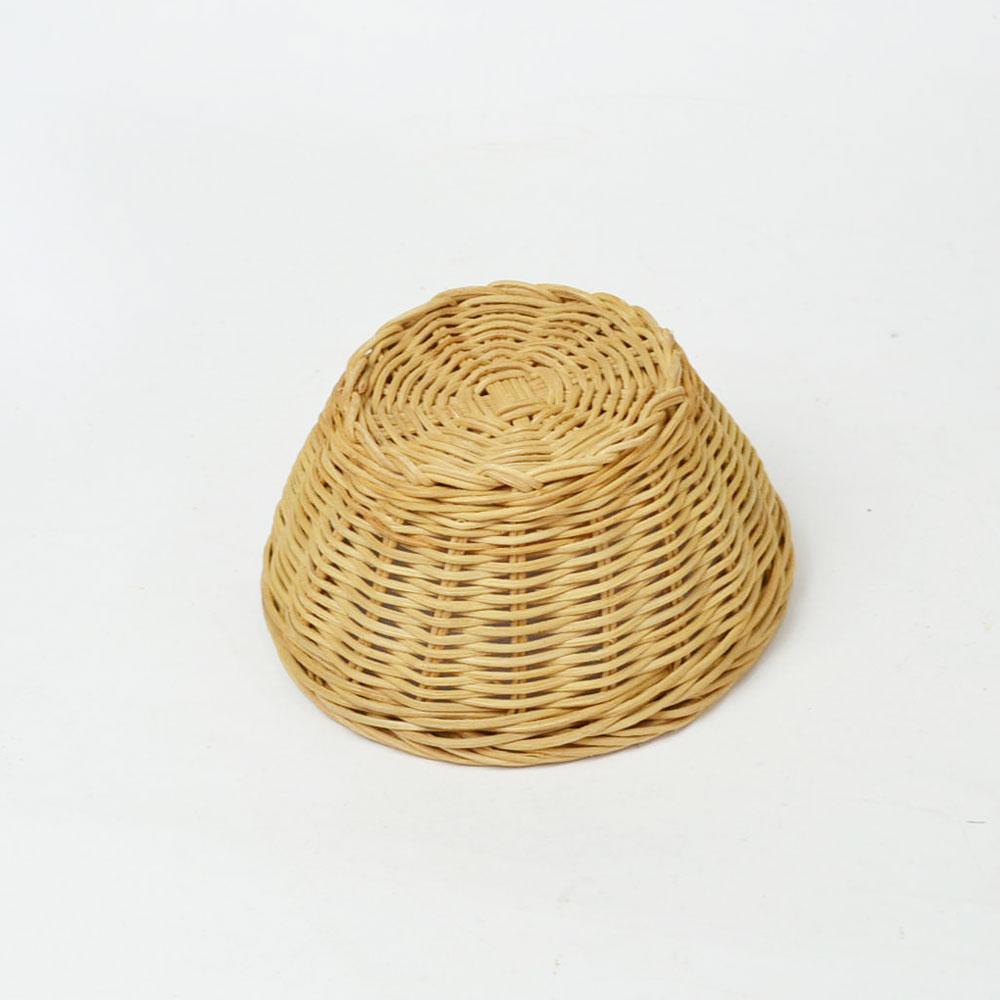 ラタン 丸 かご Sサイズ サークル 籐 薄塗りニス仕上げ ベトナム製