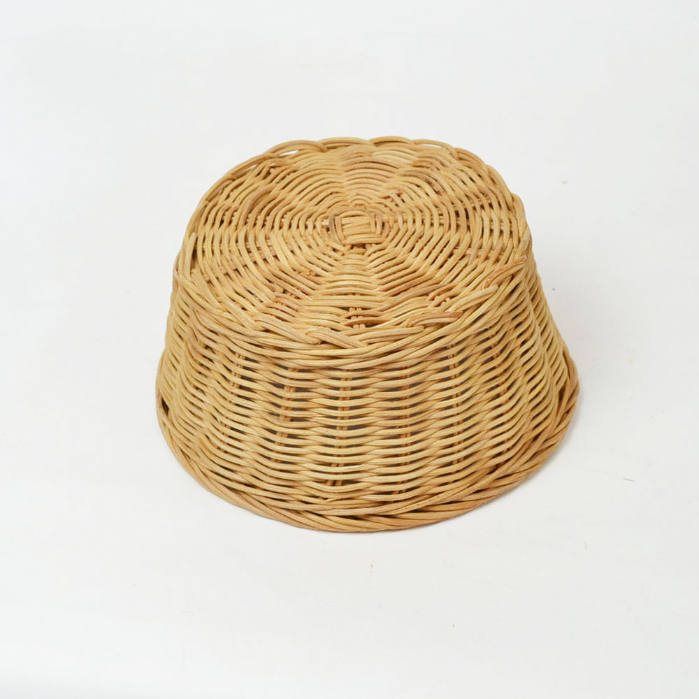 ラタン 丸 かご Lサイズ サークル 籐 バスケット 112