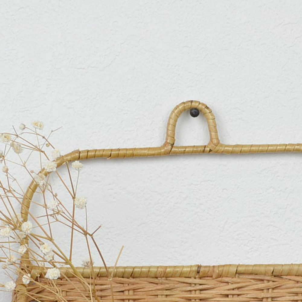 ラタン レターラック Sサイズ 壁掛け 手紙収納 ベトナム製