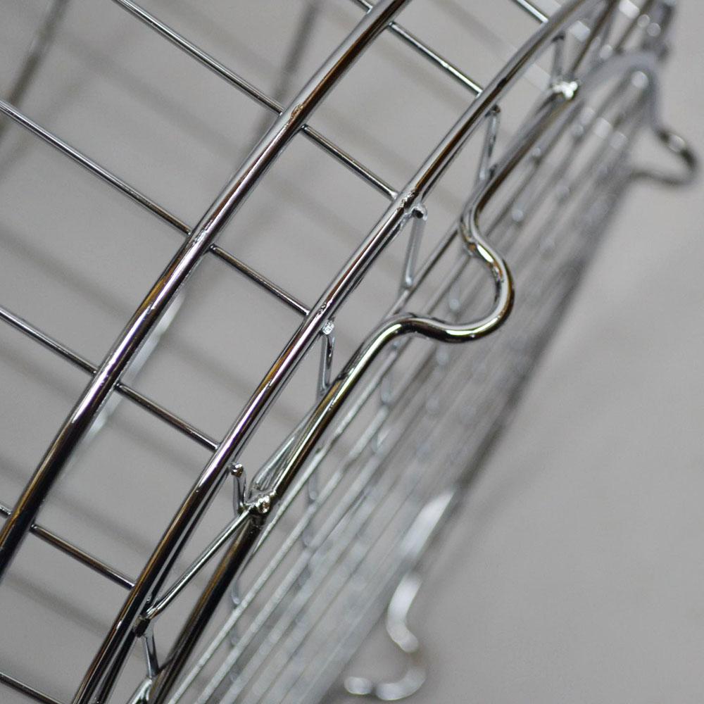 ワイヤーバスケット 丸 Sサイズ ランドリーバスケット アイアン シルバー シンプル 持ち手つき 使い勝手のいいデザイン キッチン リビング 玄関 サークル おしゃれ 見せる収納 ナチュラル 丈夫 ワイヤー かご 収納 インテリア POS
