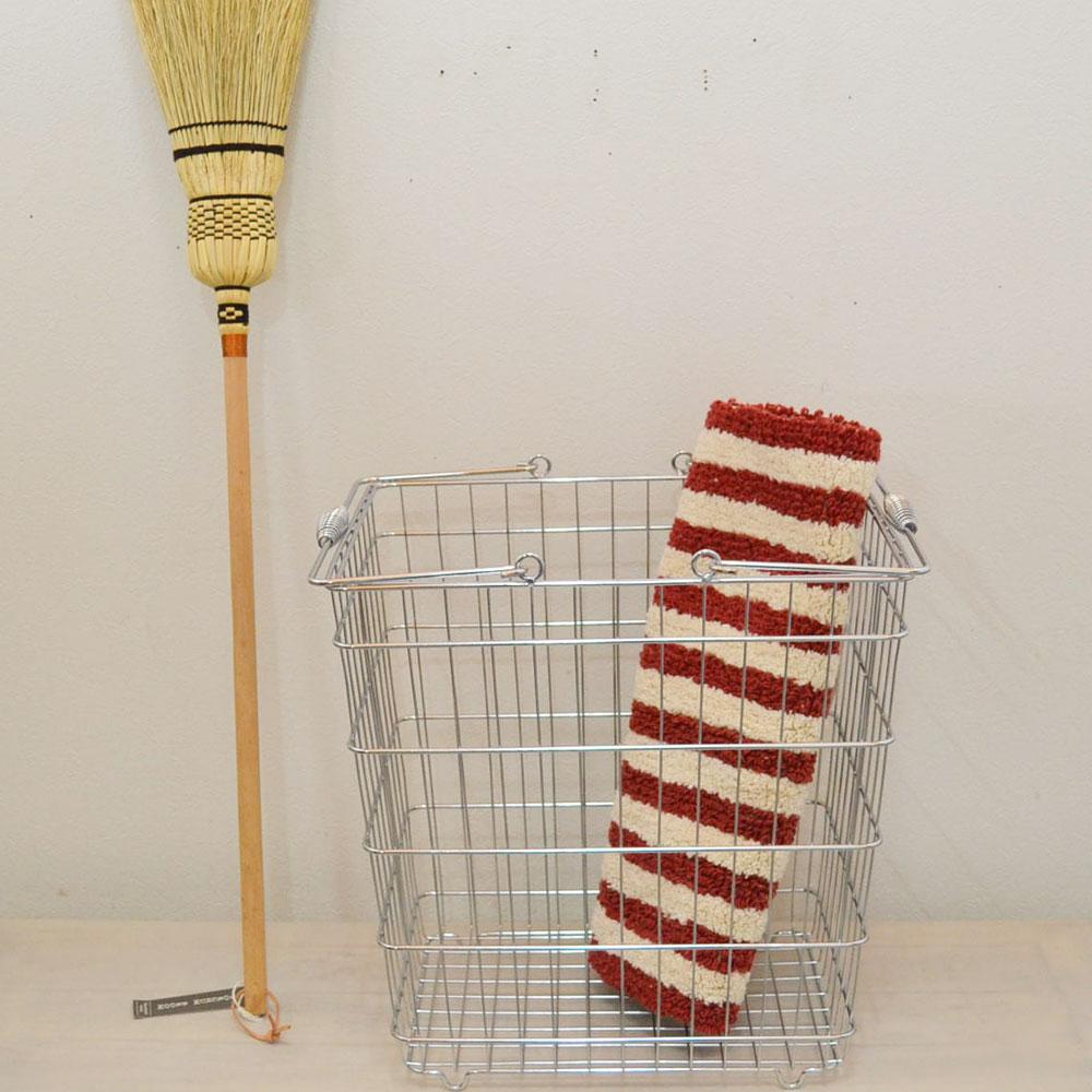ワイヤーバスケット 長角 ランドリーバスケット アイアン シルバー シンプル 持ち手つき 使い勝手のいいデザイン キッチン リビング 玄関 野菜入れ おしゃれ 見せる収納 ナチュラル 丈夫 ワイヤー かご 収納 インテリア 角 POS