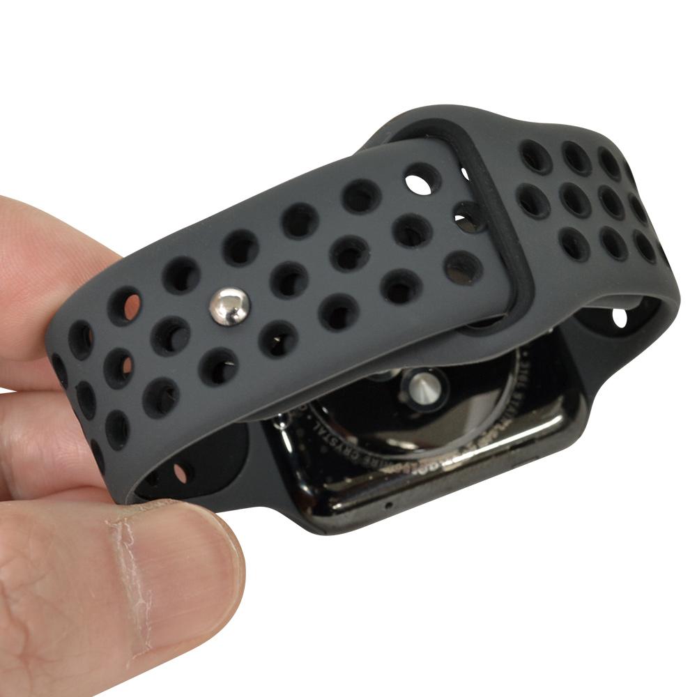 ラスタバナナ Apple Watch Series5 Series4 Series3 40mm 38mm シリコンベルト スタンダードタイプ BK アップルウォッチ バンド RBLAW4001BK