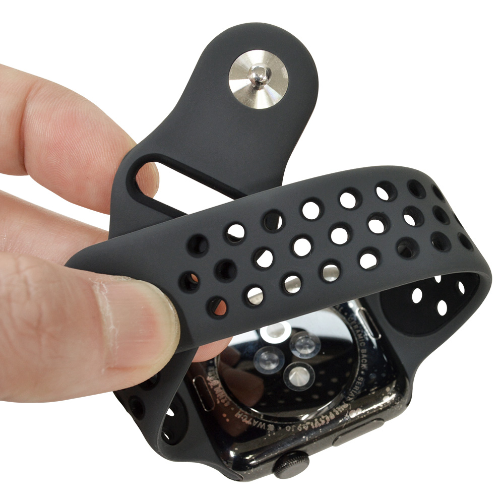ラスタバナナ Apple Watch SE Series6 Series5 Series4 Series3 40mm 38mm シリコンベルト スタンダードタイプ BK アップルウォッチ バンド RBLAW4001BK