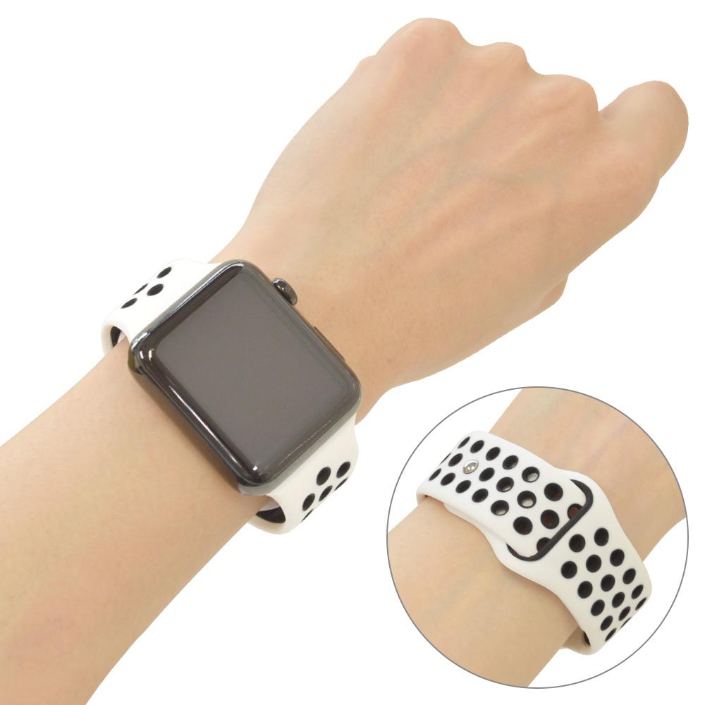 ラスタバナナ Apple Watch SE Series6 Series5 Series4 Series3 40mm 38mm シリコンベルト スタンダードタイプ WH アップルウォッチ バンド RBLAW4001WH