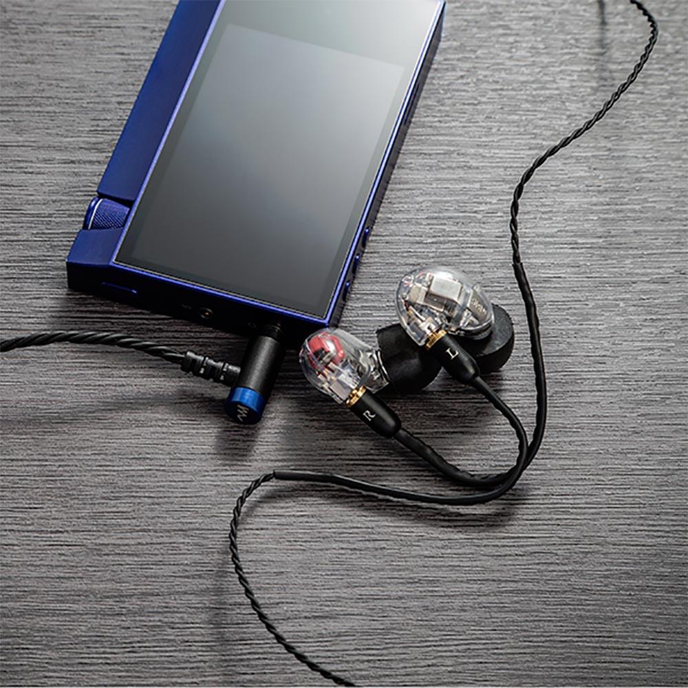 """High-Spec earphone cable """"Sunshine"""" for アニソン ハイスペック イヤホンケーブル 3.5mm 4極 アンバランスプラグ ブラック サンシャイン CP-35MMRB1/B"""