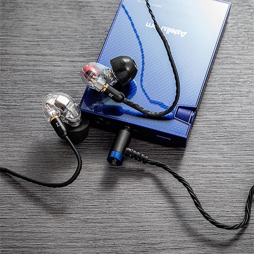 """High-Spec earphone cable """"Sunshine"""" for アニソン ハイスペック イヤホンケーブル 2.5mm 4極 バランスプラグ ブラック サンシャイン CP-25MMRB1/B"""