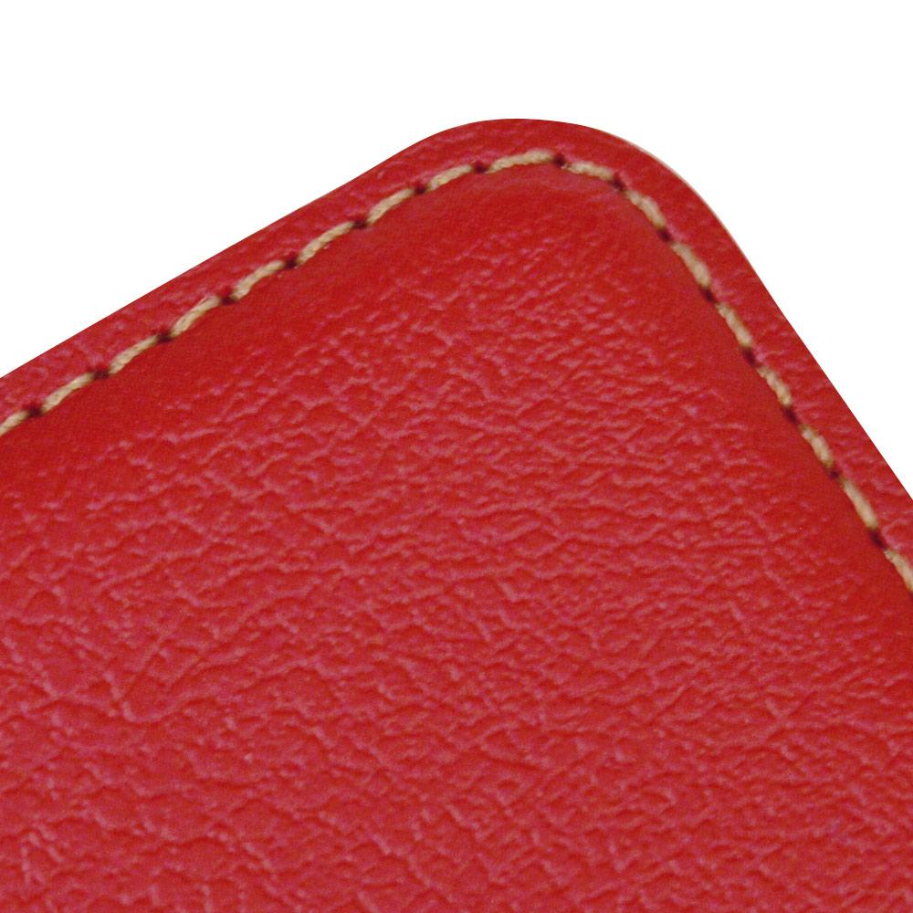 ラスタバナナ かんたんスマホ2 A001KC BASIO4 KYV47 ケース カバー 手帳型 耐衝撃吸収 薄型 サイドマグネット レッド ベイシオ スマホケース 5378BSO4BO