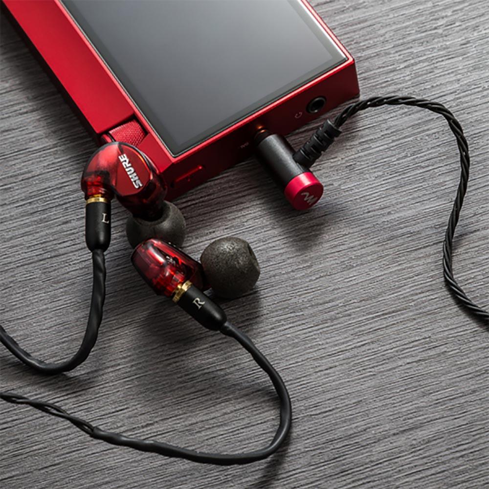 "High-Spec earphone cable  ""Stones"" for ロック ハイスペック イヤホンケーブル 2.5mm 4極 バランスプラグ ブラック ストーンズ CP-25MMRA1/B"