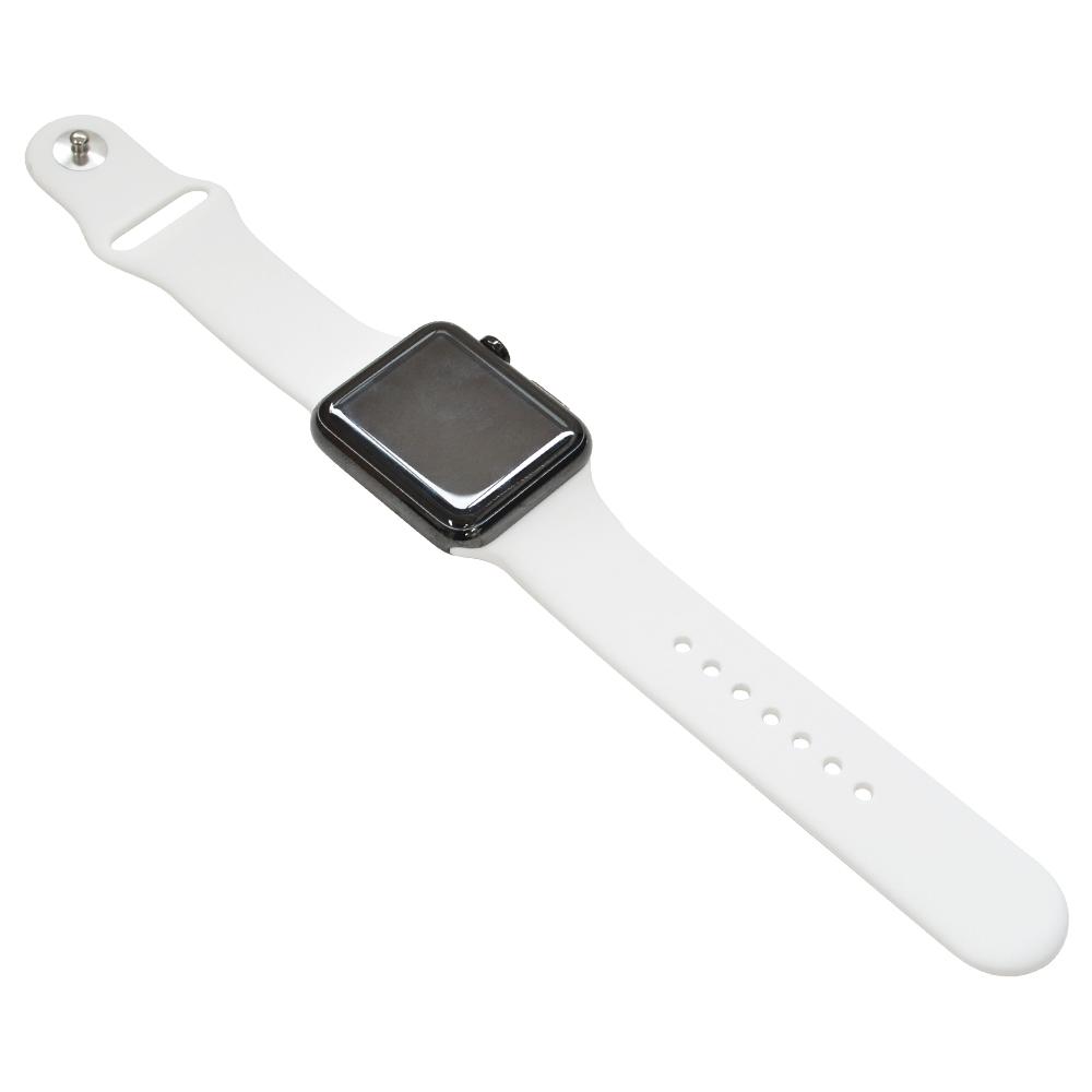 ラスタバナナ Apple Watch SE Series6 Series5 Series4 Series3 44mm 42mm シリコンベルト スタンダードタイプ WH アップルウォッチ バンド RBLAW4401WH