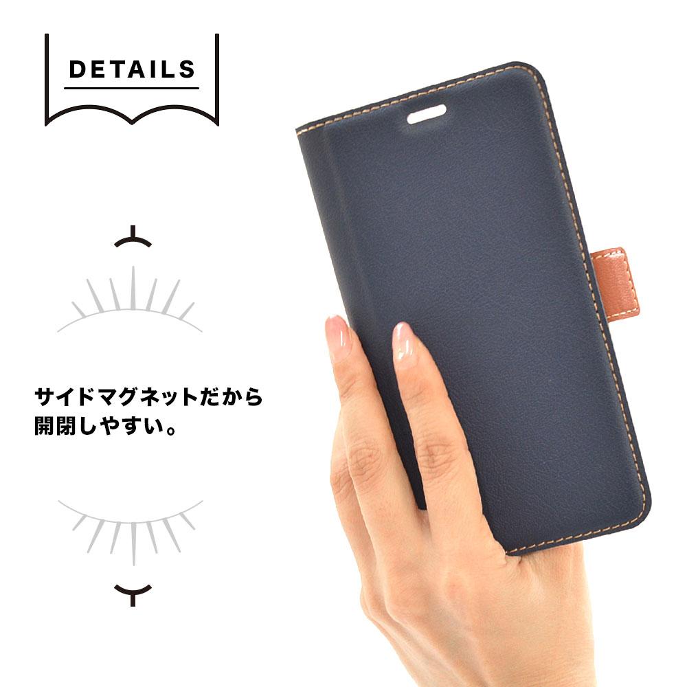 ラスタバナナ Xiaomi Redmi 9T ケース カバー 手帳型 +COLOR 耐衝撃吸収 薄型 サイドマグネット NV×BR シャオミ レッドミー 9T スマホケース 6047RED9TBO