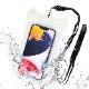 ラスタバナナ iPhone スマホ ねこ耳型 防水ケース IPX8 ネックストラップ Touch ID対応 スマートフォン 全面クリアタイプ 防水カバー 猫耳 ネコミミ ねこみみ かわいい クリア M 全透明 雨 海 プール 風呂 台所 キッチン アウトドア 登山 RFRWPM05CL