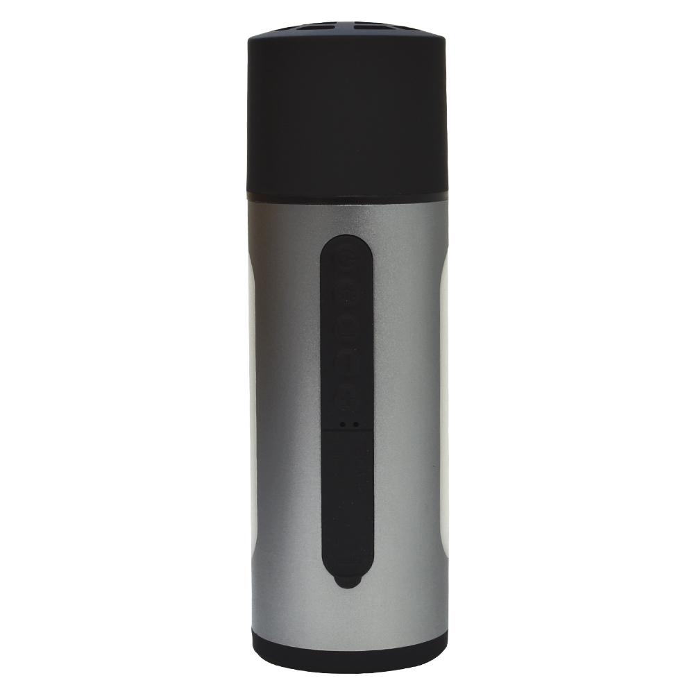 ラスタバナナ Bluetooth 5.0 ワイヤレス スピーカー LEDライト付き 4400mAh モバイルバッテリー スマホ・タブレットを充電 防水規格IPX5 シルバー RBTSP01SV