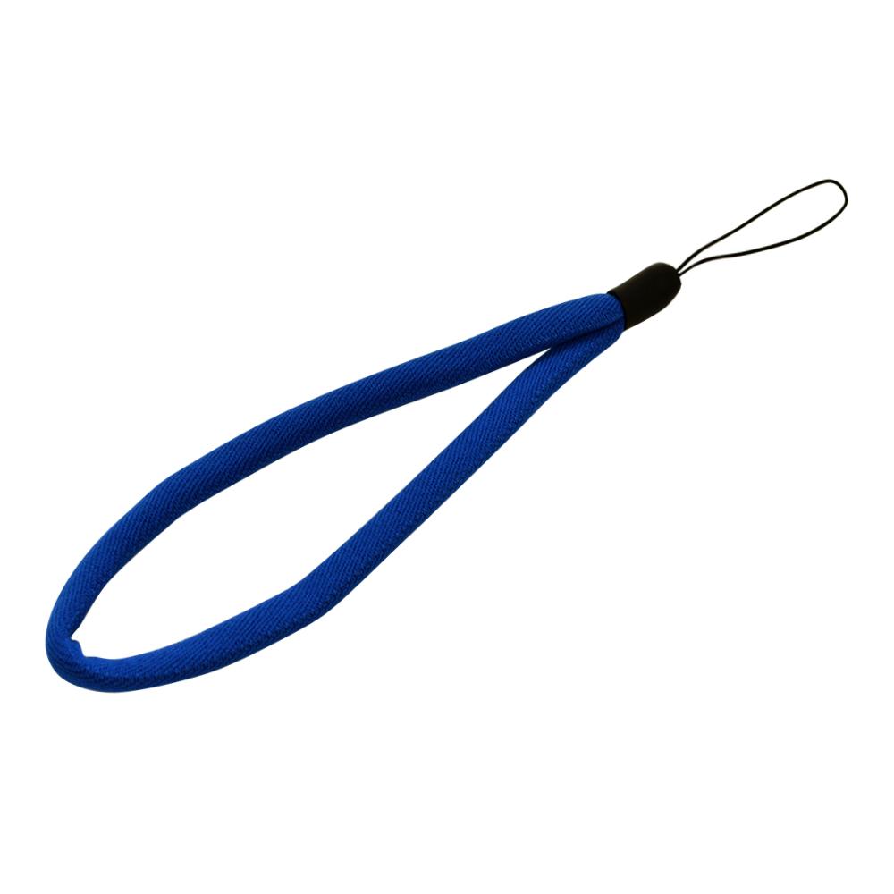 ラスタバナナ スマホ ガラケー対応 ハンドストラップ 金属不使用 端末を傷つけない シンプル 柔らかい 丸ひもタイプ ブルー  RSTST00BL